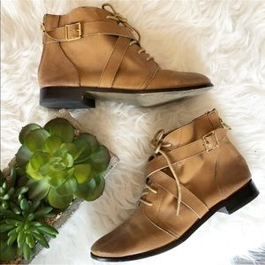 Urban Outfitters Ecote Cross Strap Ankle Boot